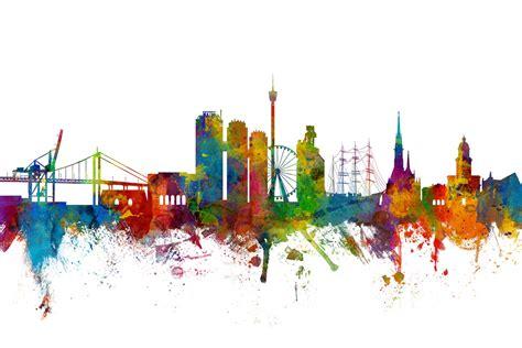 Vi ser framtidens göteborg som en klimatneutral, öppen och grön stad. Göteborg Skyline - Canvas Print & Photos - Photowall