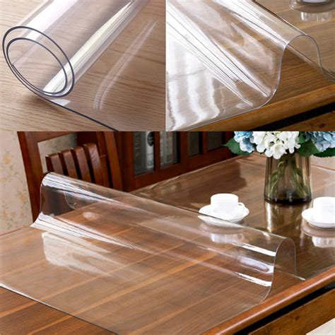 dining room table protector clear 1mm pvc clear tablecloth waterproof table protector