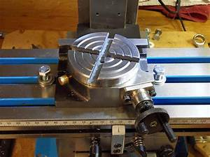 A Small Rotary Table On The Milling Machine Table