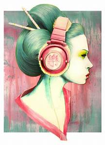 Geisha Headphones by pinkbutterflyofdeath on DeviantArt