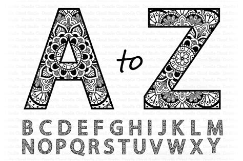 Compatible with cameo silhouette, cricut and other major cutting machines!perfect for your diy projects, giveaway and personalized gift. Mandala Alphabet SVG, Mandala Letters SVG, Alphabet Clipart.