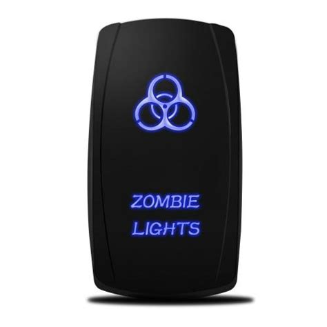 Mictuning Blue Led Rocker Switch Zombie Lights