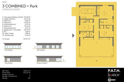 plan maison bois plain pied 4 chambres plan maison passive ecologique bois starck