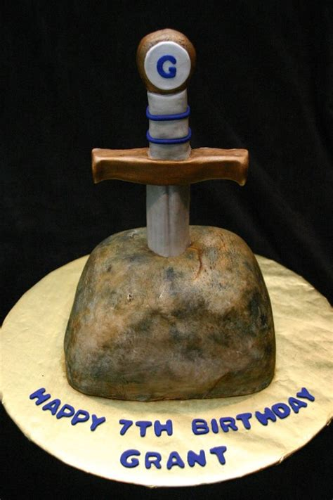 sword   stone birthday cake cool cake designs cake