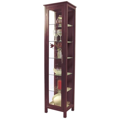 Coaster Home Furnishings Curio Cabinet Black by Kyoto Solid Wood And Glass Display Storage Unit