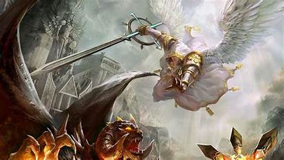 Demon Demons Angel Angels Wallpapers Devil Warrior
