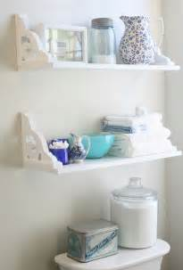 bathroom wall shelf ideas vintage inspired diy bathroom shelves