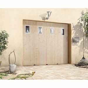 Porte de garage coulissante avec hublot primo h200 x l for Porte de garage coulissante avec chatière porte pvc