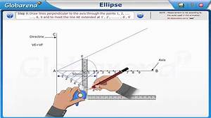 Engineering Drawing - Conic Section - Ellipse