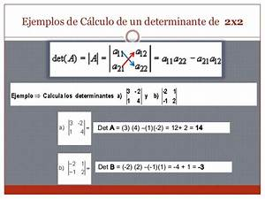 Determinante Berechnen 2x2 : determinantes de matrices lgebra lineal uia torre n ~ Themetempest.com Abrechnung