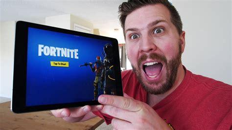 fortnite gameplay  ipad pro    fortnite  ios