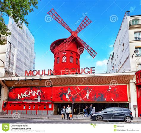 moulin rouge editorial photography image