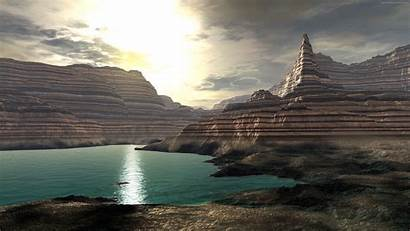 Grand Canyon Sunset Scifi 4k Sci Fi