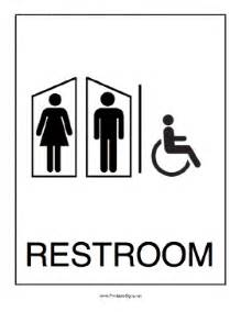 printable handicapped restroom sign