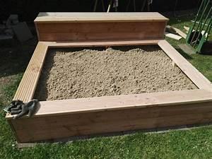 Sandkasten Selber Bauen Anleitung : sandkasten mit integrierter bank bauanleitung zum selberbauen 1 2 deine heimwerker ~ Watch28wear.com Haus und Dekorationen