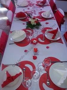 Decoration De Table De Mariage : decoration de table de mariage rouge et blanc le mariage ~ Melissatoandfro.com Idées de Décoration
