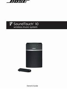 Bose Soundtouch 10 Owners Manual 1003317 User