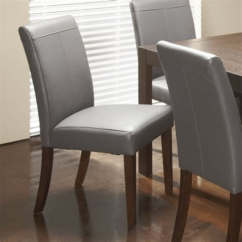 chateau imports royal genuine leather upholstered dining