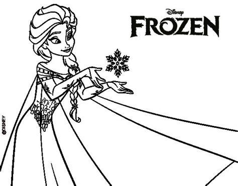dibujos  colorear de frozen