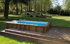 Piscine Hors Sol Composite : piscine en bois hors sol rectangulaire piscine bois ~ Dode.kayakingforconservation.com Idées de Décoration