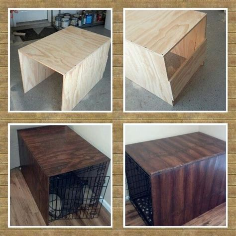 wood dog crate diy woodworking projects plans