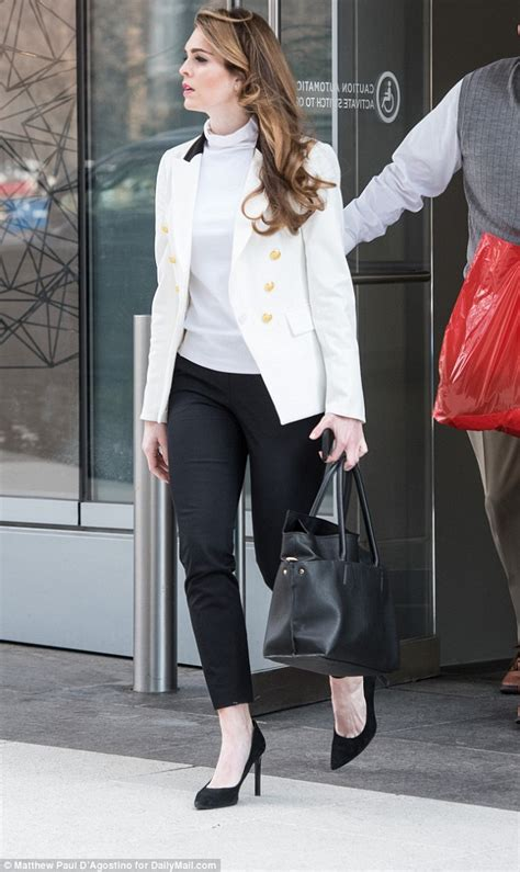Hope Hicks a vision in white (and very bronzed face) at ...