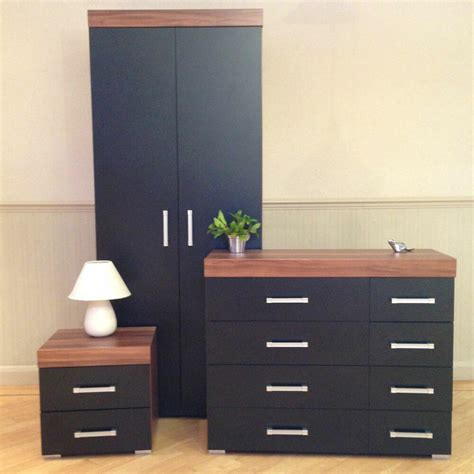 Black Set Of Drawers bedroom furniture set black walnut wardrobe 4 4 drawer