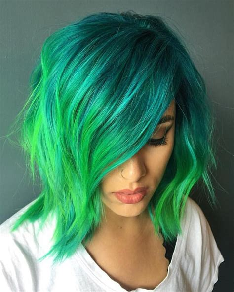hair color streaks teal hair streaks