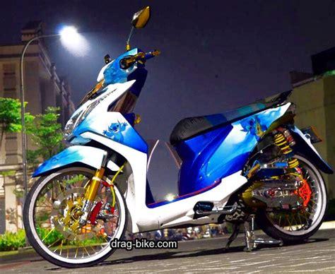 Modifikasi Motor Beat Putih by 50 Foto Gambar Modifikasi Beat Kontes Racing Jari