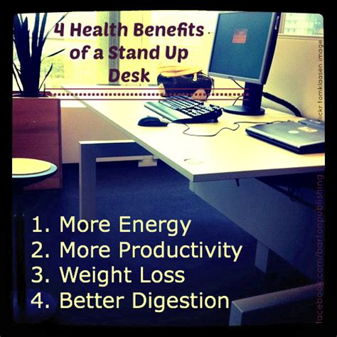 benefits of a standing desk 4 health benefits of a stand up desk