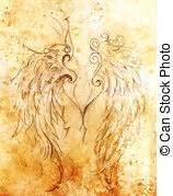 engelsflügel zum basteln bleistift zeichnung vogel flug bilder und stockfotos 124