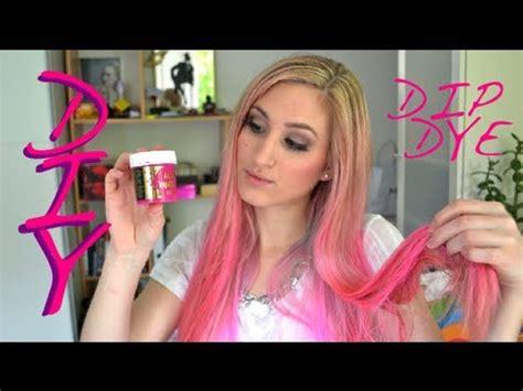 pinke haare färben diy pink dip dye haare pink f 228 rben