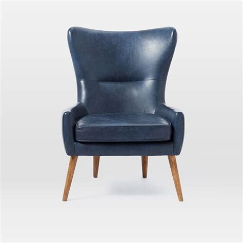 erik leather wing chair west elm