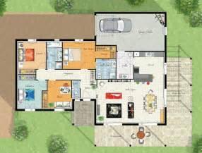Plan Maison Plain Pied 4 Chambres Avec Suite Parentale by Modele Maison Villa Thalia Cgie Plans Maisons