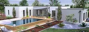 Maison Moderne Toit Plat : maison toit plat gironde ~ Nature-et-papiers.com Idées de Décoration