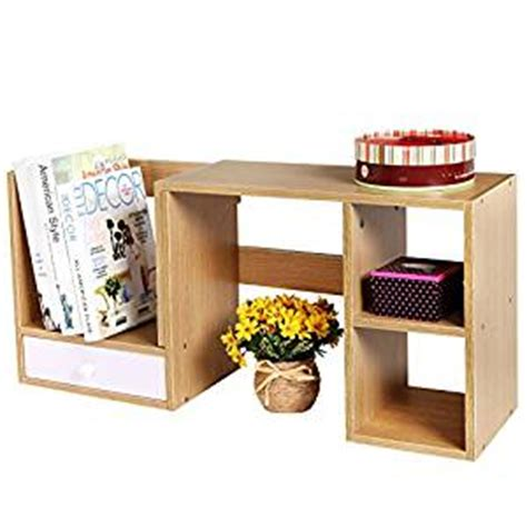 kitchen desk organizer wooden adjustable width desktop office supply 1540