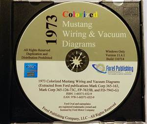 1973 Ford Mustang Factory Complete Wiring Vacuum Diagrams