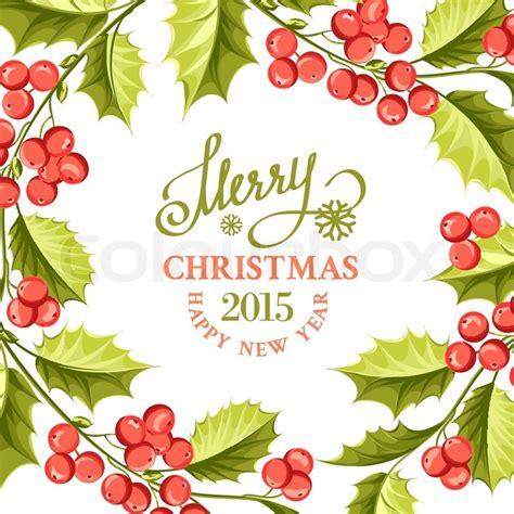 christmas mistletoe drawing  card stock vector