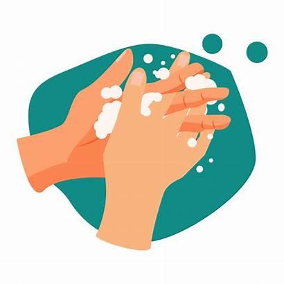 Wash Hands Handwashing Illustration Hand Vector Illustrations