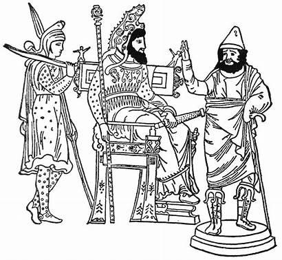 Xerxes King Throne Coloring Bible