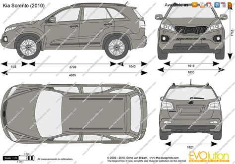 kia sorento vector drawing