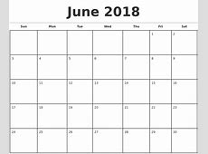 June 2018 Calendar Template free calendar 2018