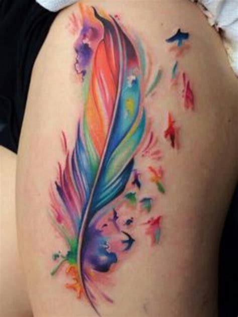 color tattos feather bird tattoos designs ideas and meaning tattoos