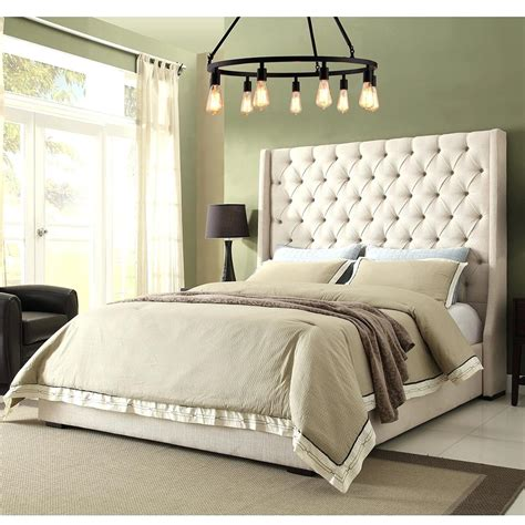 bedroom organize  room  queen headboard
