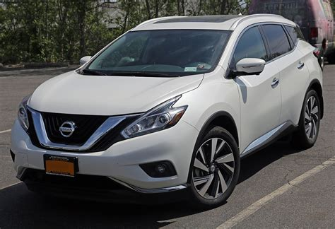 Nissan Picture by File 2015 Nissan Murano Sv Awd Front Left Jpg Wikimedia