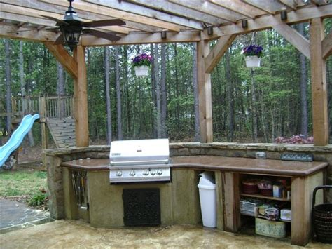 Best Images About Rustic Outdoor Kitchens Pinterest
