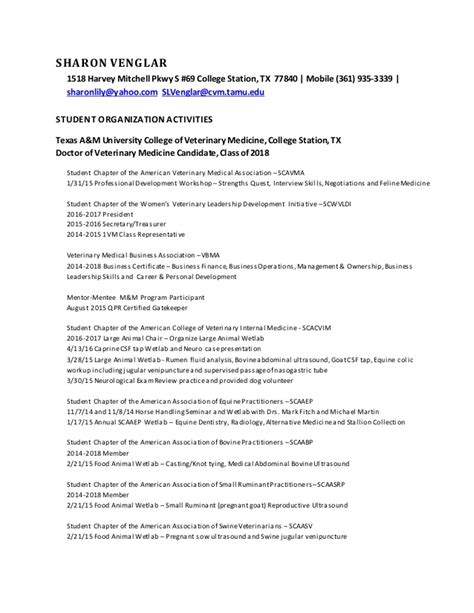 student org activities for cv resume