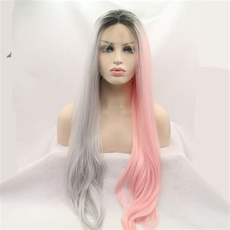 Coloring Unice Hair by 2018 New Unique Coloring Black Root Silver Grey Pink Half