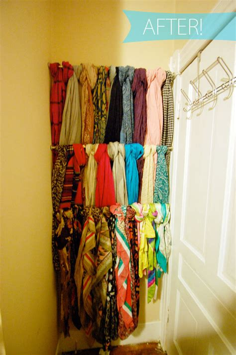 How To Organize Scarves In Your Closet by Appleshine Scarf Storage