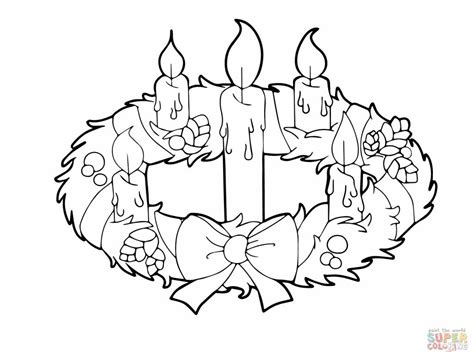 advent wreath  candles coloring  super jpg